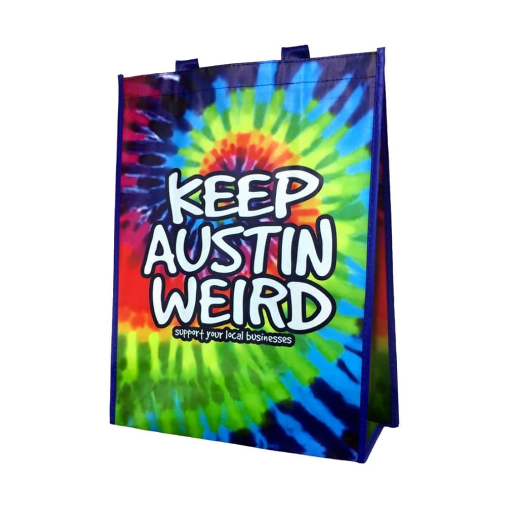 Outhouse Designs Keep Austin Weird Tie-Dye Tote Bag TIEDYE
