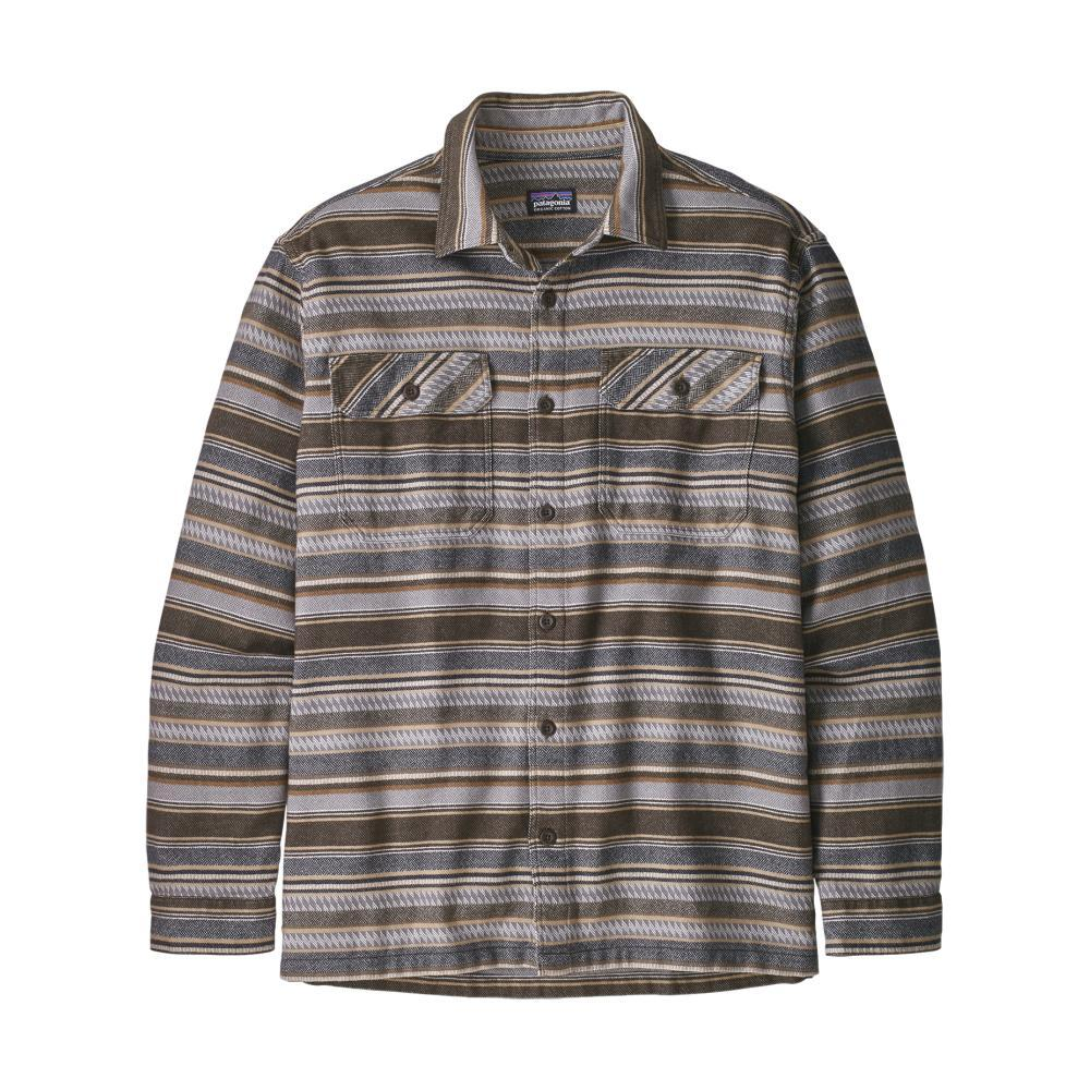 Patagonia Men's Long-Sleeved Fjord Flannel Shirt BRWN_FDBB