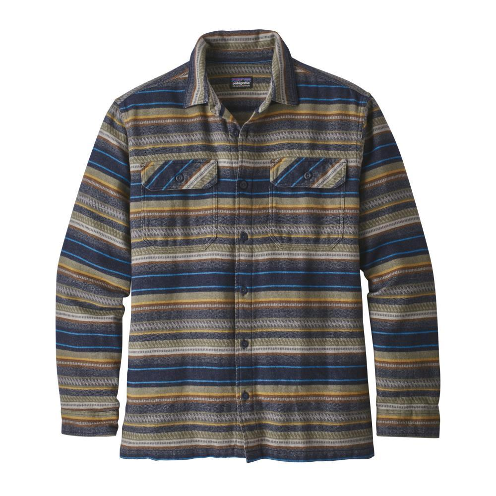 Patagonia Men's Long-Sleeved Fjord Flannel Shirt FDNA_BLUE