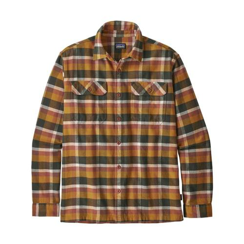 Patagonia Men's Long-Sleeved Fjord Flannel Shirt Gold_obwg