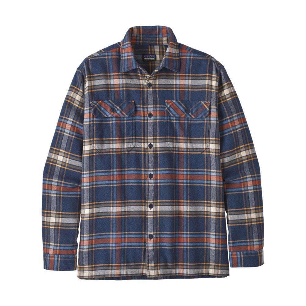 Patagonia Men's Long-Sleeved Fjord Flannel Shirt NAVY_DENN