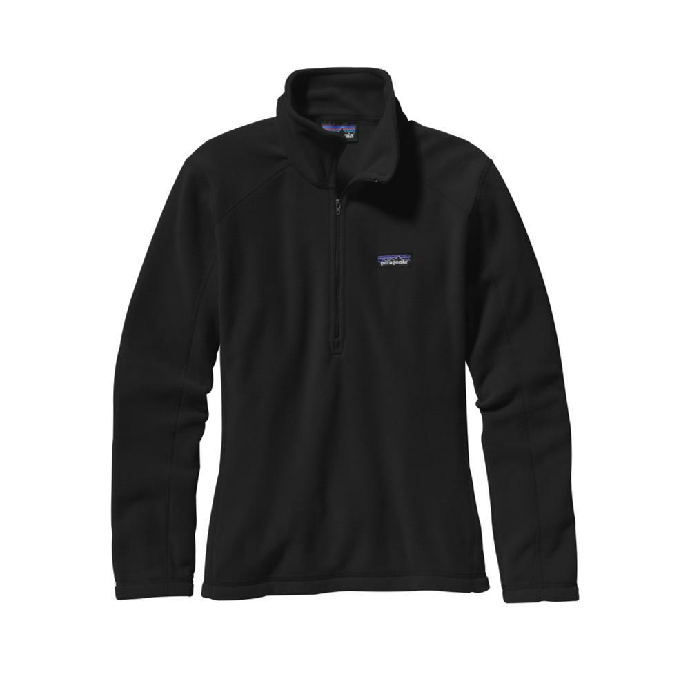Patagonia Women's Micro D 1/4-Zip Fleece BLK_BLACK