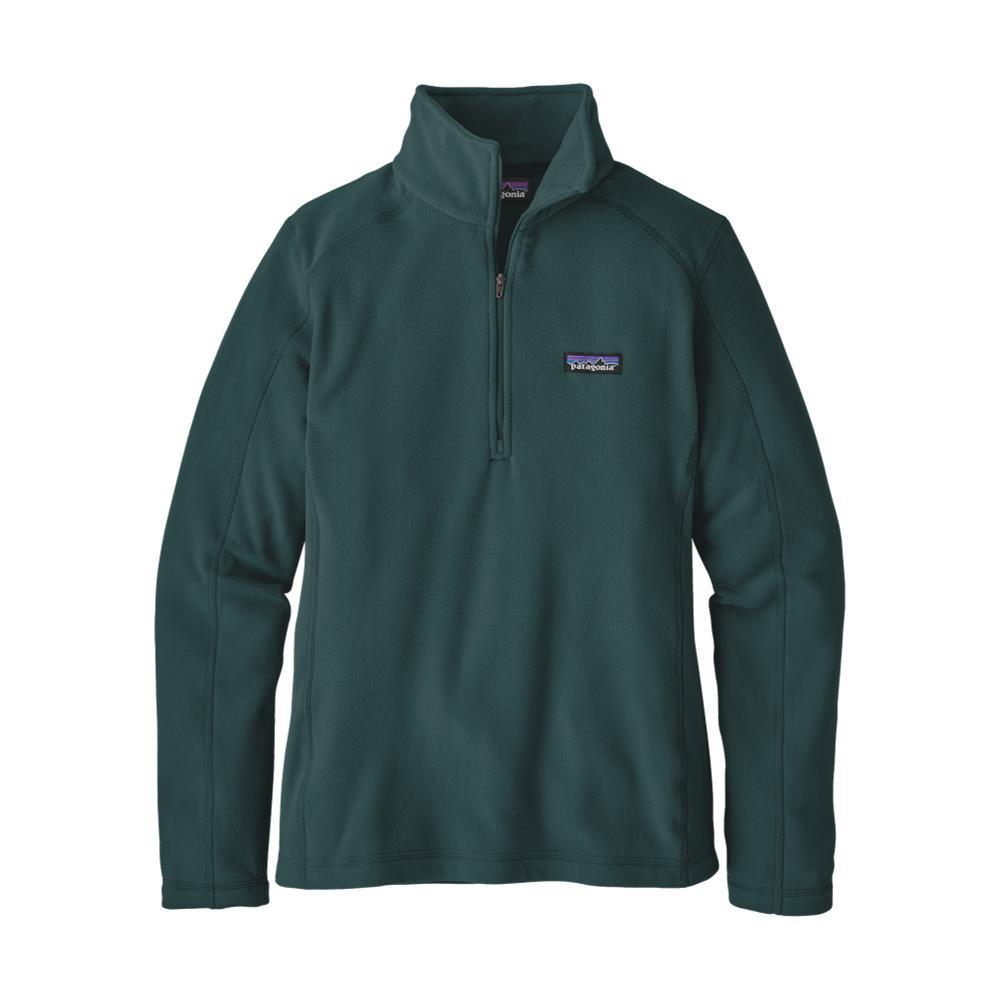 Patagonia Women's Micro D 1/4-Zip Fleece GREEN_PIGR