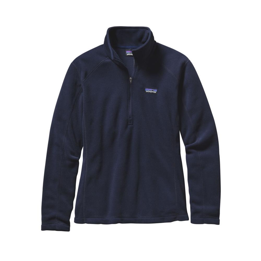 Patagonia Women's Micro D 1/4-Zip Fleece NVYB_BLUE
