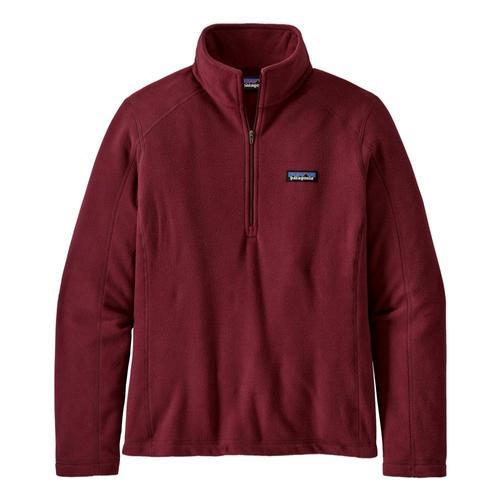 Patagonia Women's Micro D 1/4-Zip Fleece Red_chir