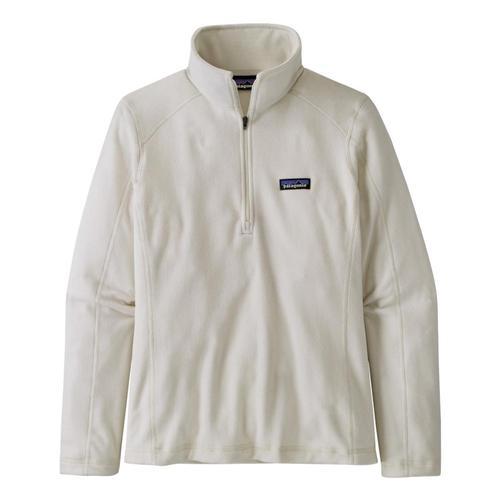 Patagonia Women's Micro D 1/4-Zip Fleece White_bcw