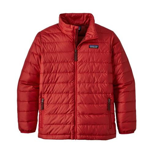 Patagonia Boys Down Sweater Jacket Fire_frod