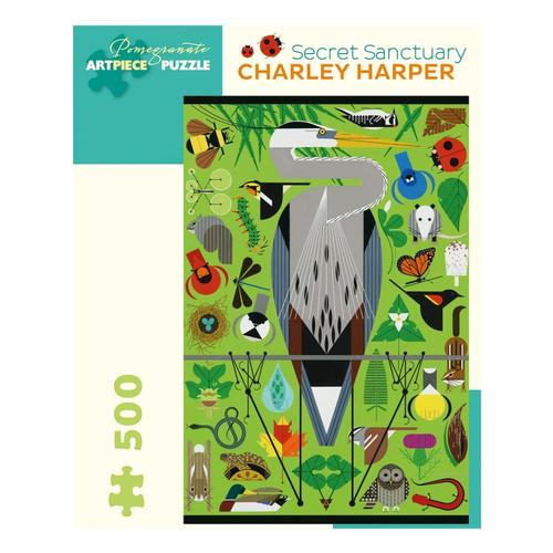 Pomegranate Charley Harper: Secret Sanctuary 500-Piece Jigsaw Puzzle