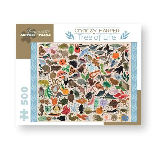Pomegranate Charley Harper: Tree of Life 500-Piece Jigsaw Puzzle