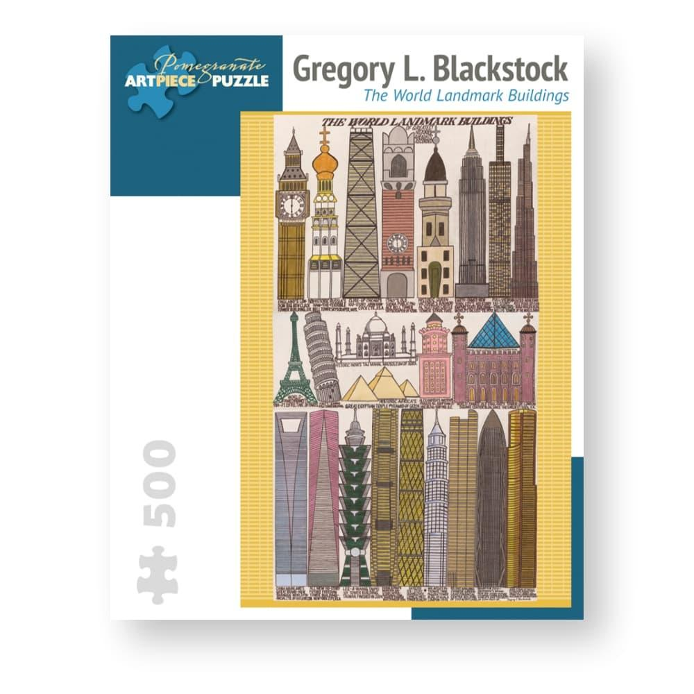 Pomegranate Gregory L.Blackstock : World Landmark Buildings 500- Piece Jigsaw Puzzle