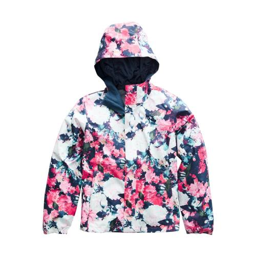The North Face Girls Resolve Reflective Jacket Pinkfloral_5pv