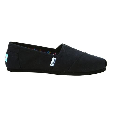 TOMS Women's Classic Canvas Shoes - Black on Black Black.Black