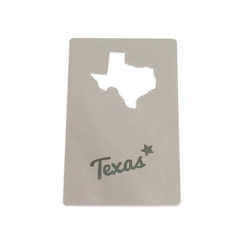 Zootility Texas Wallet Card Bottle Opener STAINLESS