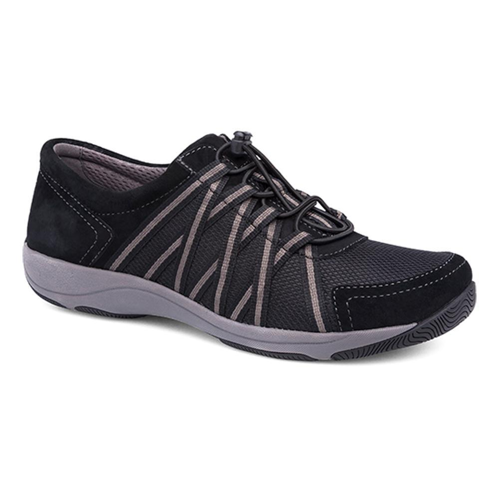 Dansko Women's Honor Black/Black Suede Sneakers BLACK