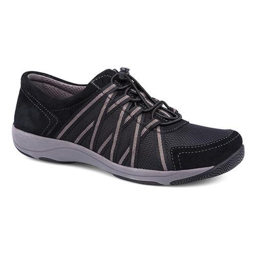 Dansko Women's Honor Black/Black Suede Sneakers Black