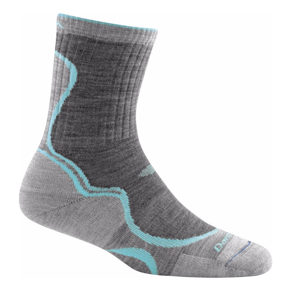 Darn Tough Women's Light Hiker Micro Crew Light Cushion Socks SLATESEAFOM