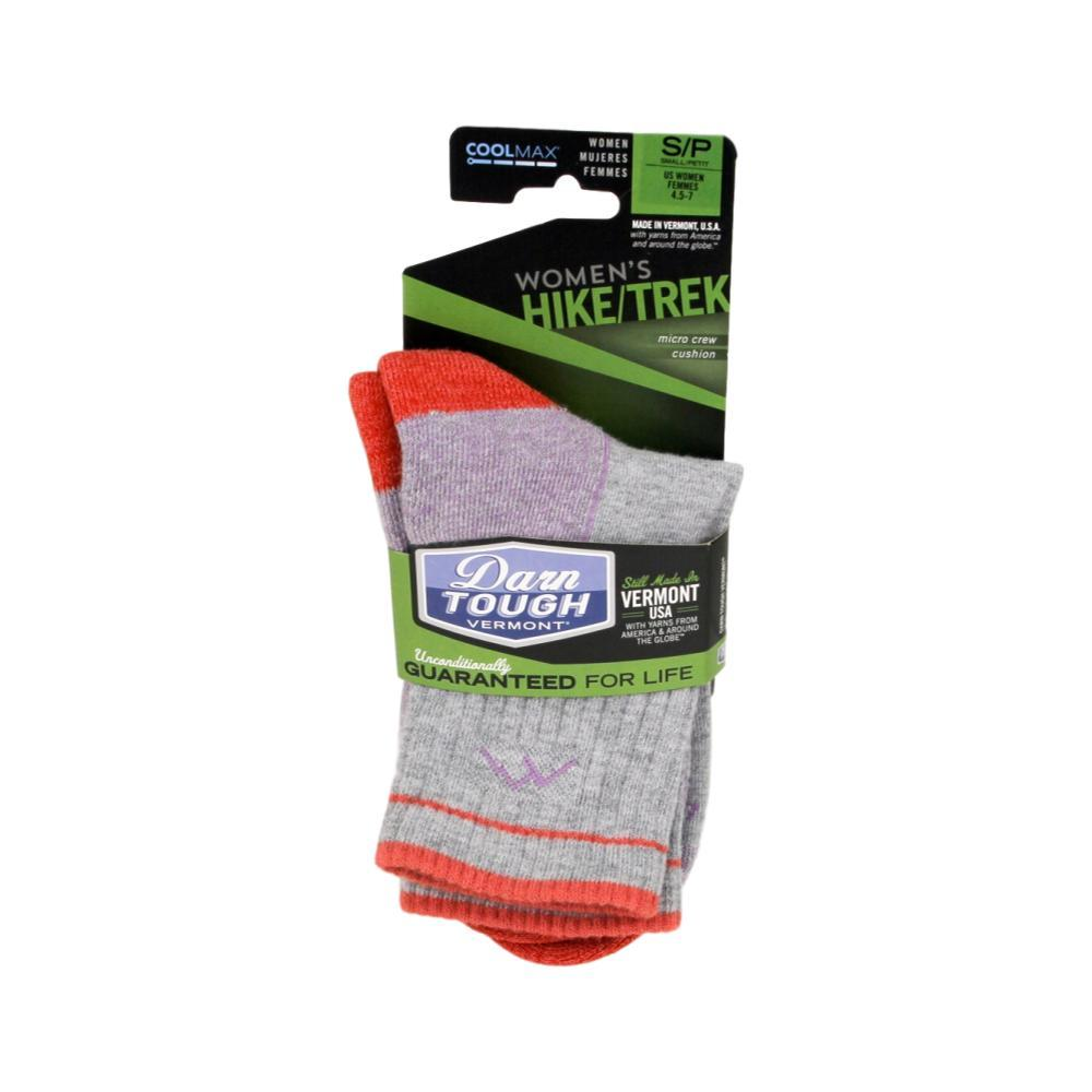 Darn Tough Women's Hiker Coolmax Micro Crew Cushion Socks LIGHTGRAY