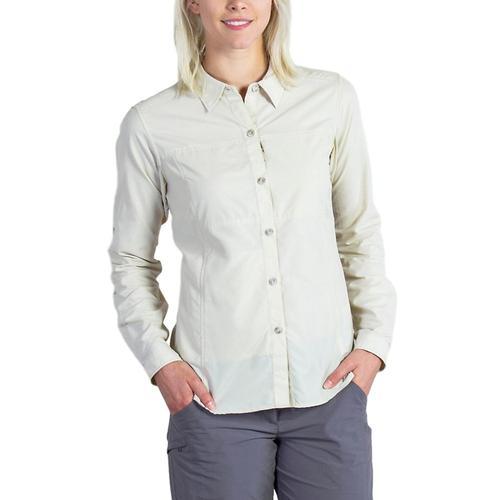ExOfficio Women's Lightscape Long Sleeve Shirt Bone_8050