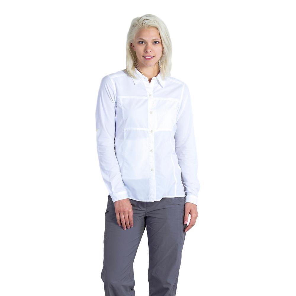 ExOfficio Women's Lightscape Long Sleeve Shirt WHITE