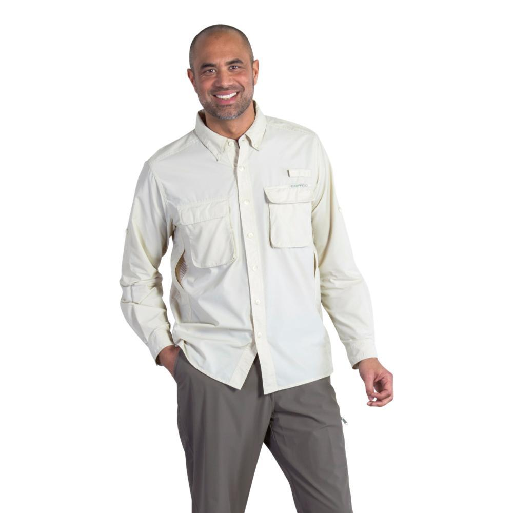 ExOfficio Men's Air Strip Long Sleeve Shirt BONE