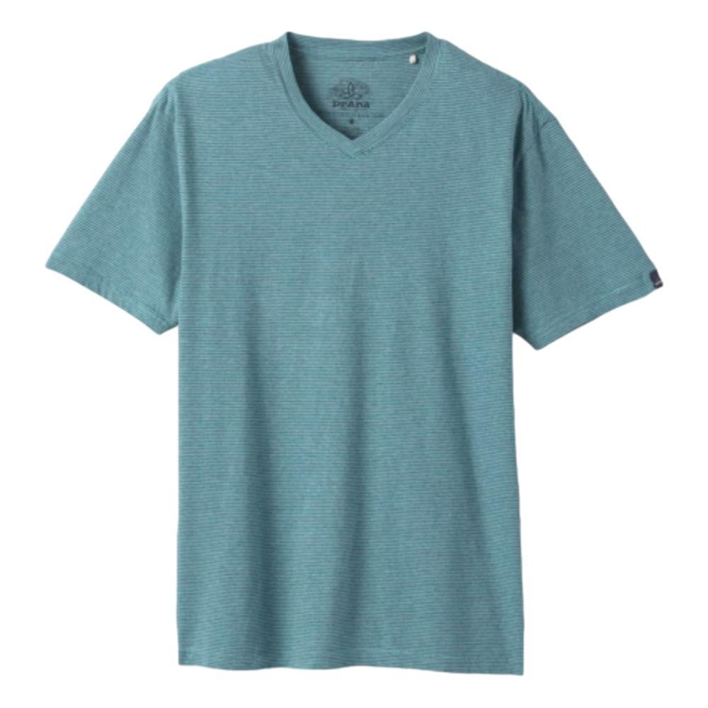 prAna Men's V-Neck T-Shirt AZURITESTRP