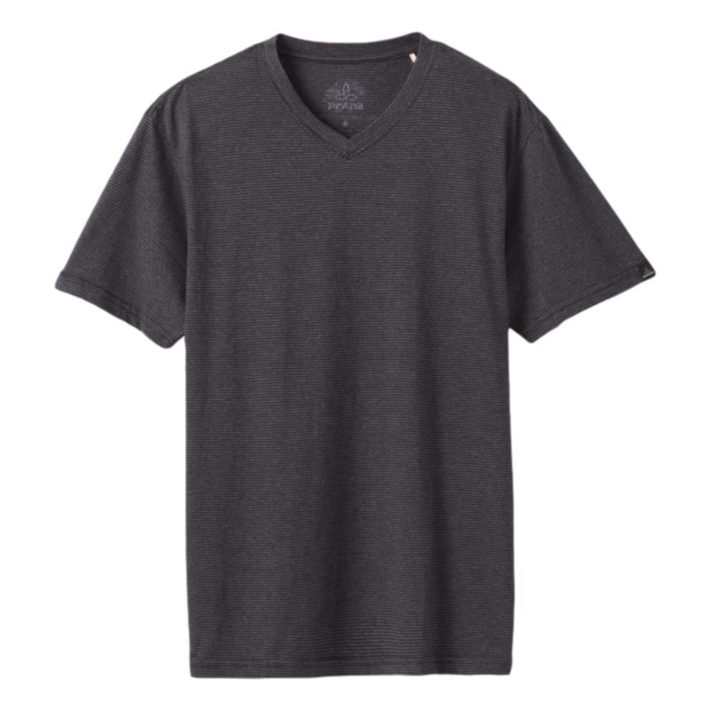 prAna Men's V-Neck T-Shirt BLKSTRIPE