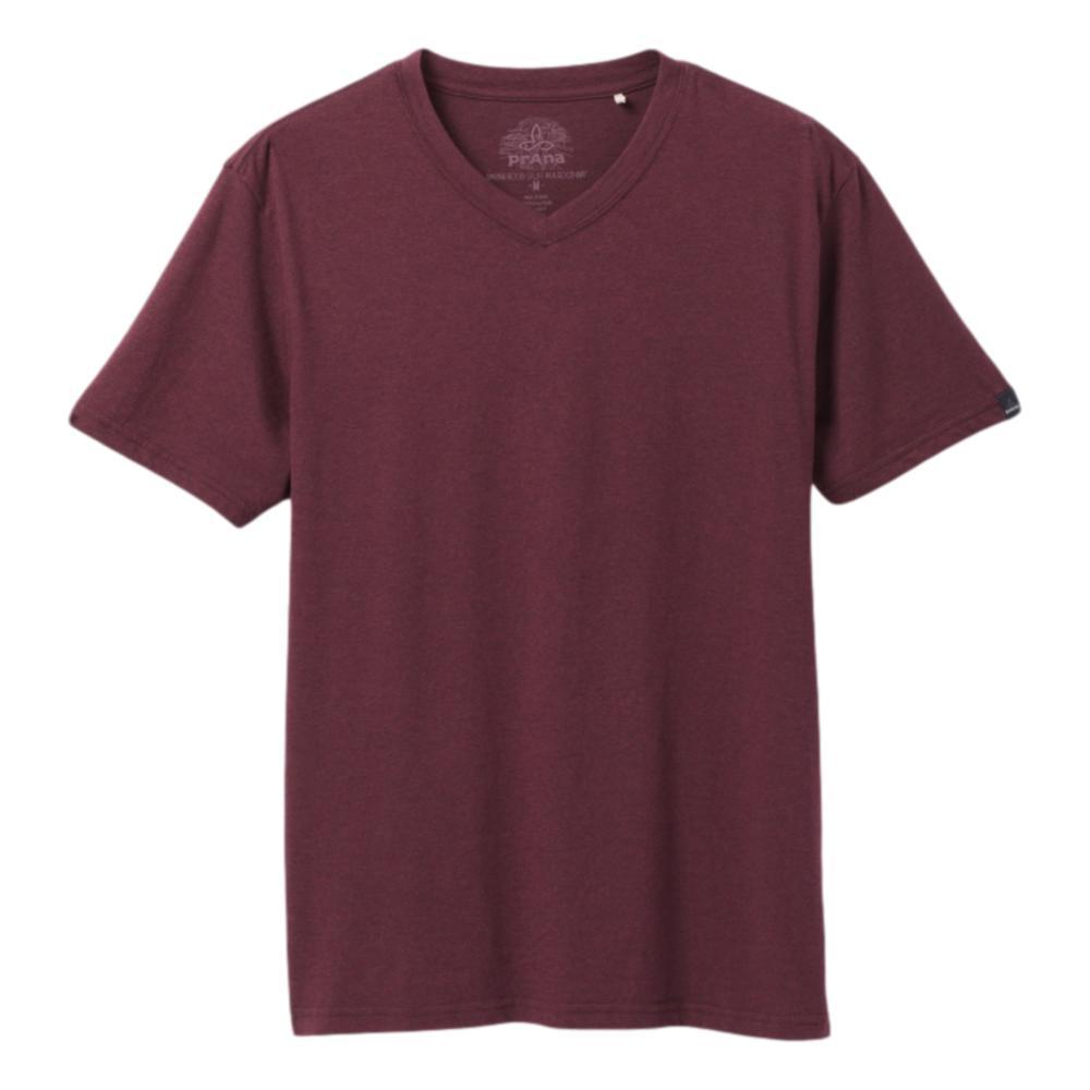 prAna Men's V-Neck T-Shirt RAISINHTHR
