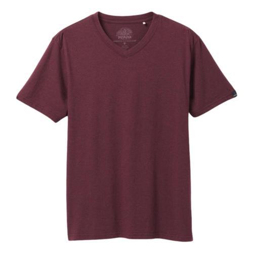 prAna Men's V-Neck T-Shirt Raisinhthr