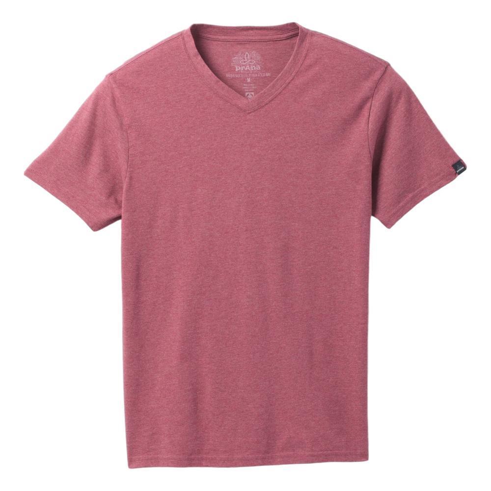 prAna Men's V-Neck T-Shirt ROSEWOOD