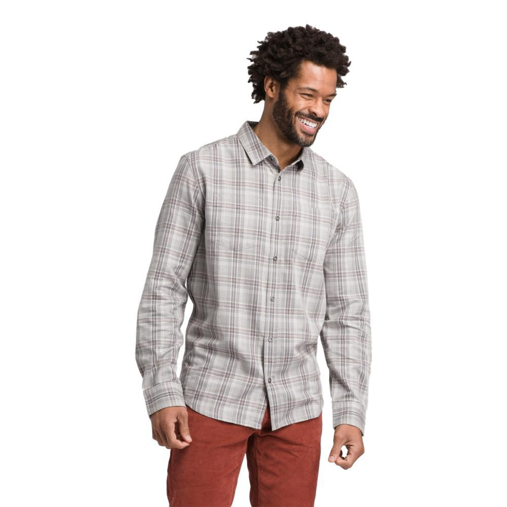 prAna Men's Holton Long Sleeve Shirt SILVER