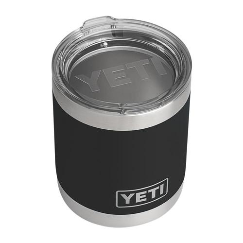 YETI Rambler 10oz Lowball Tumbler with Standard Lid Black