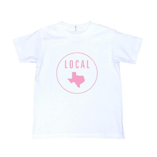 Locally Grown Kids Texas Local Tee Vintwht