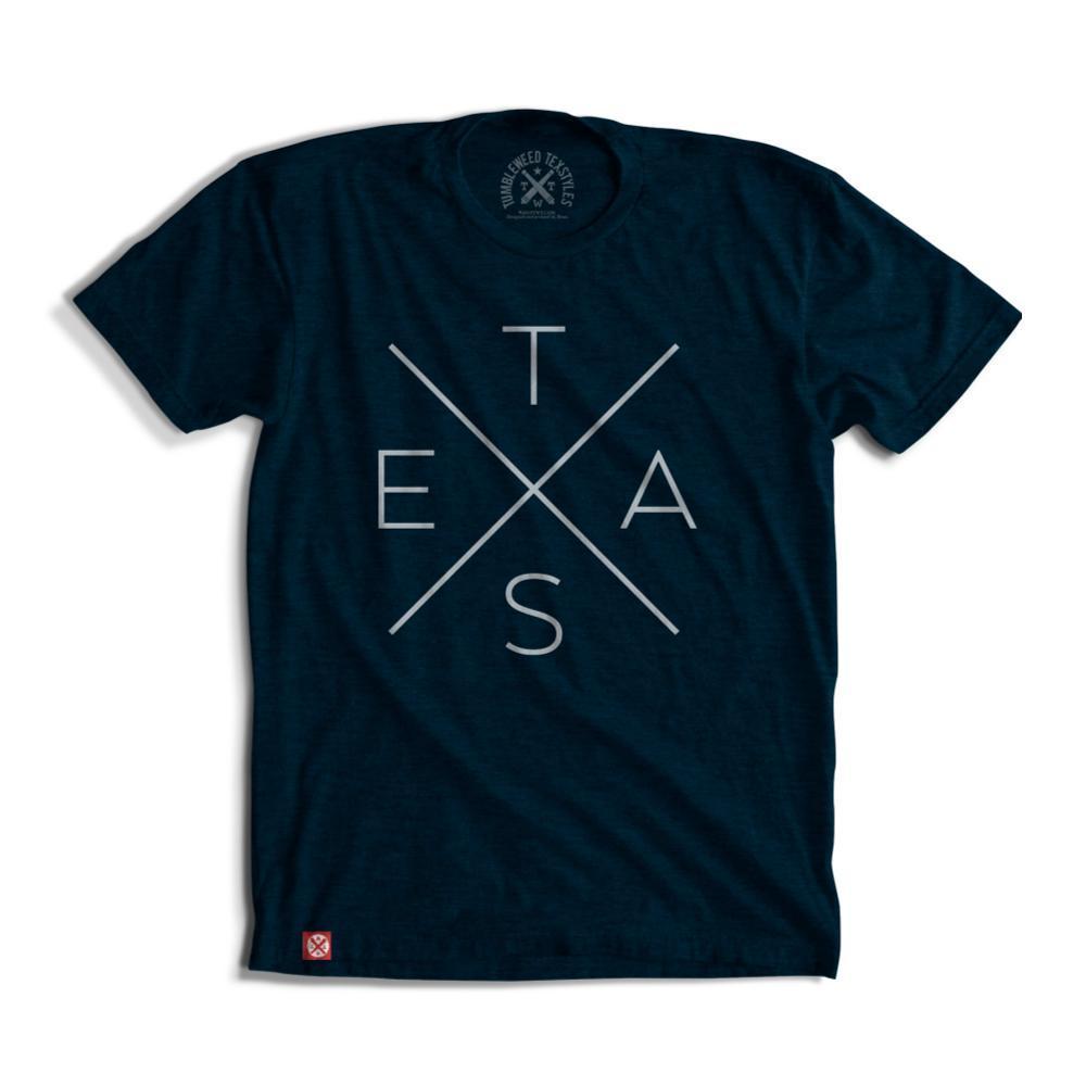 Tumbleweed TexStyles Unisex Big X Texas T-Shirt NAVY