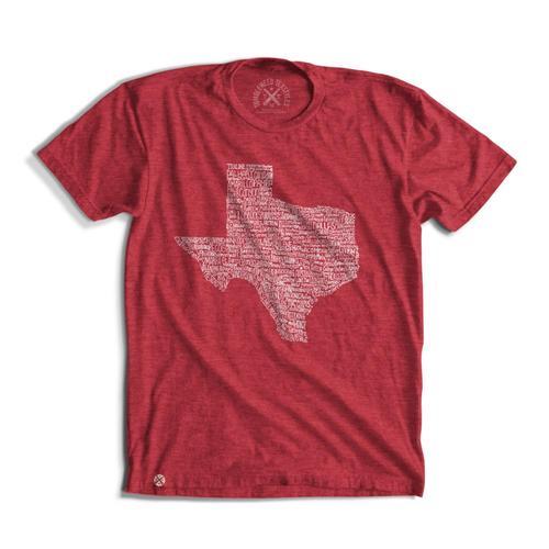 Tumbleweed TexStyles Unisex Texas Towns T-Shirt Heatherred