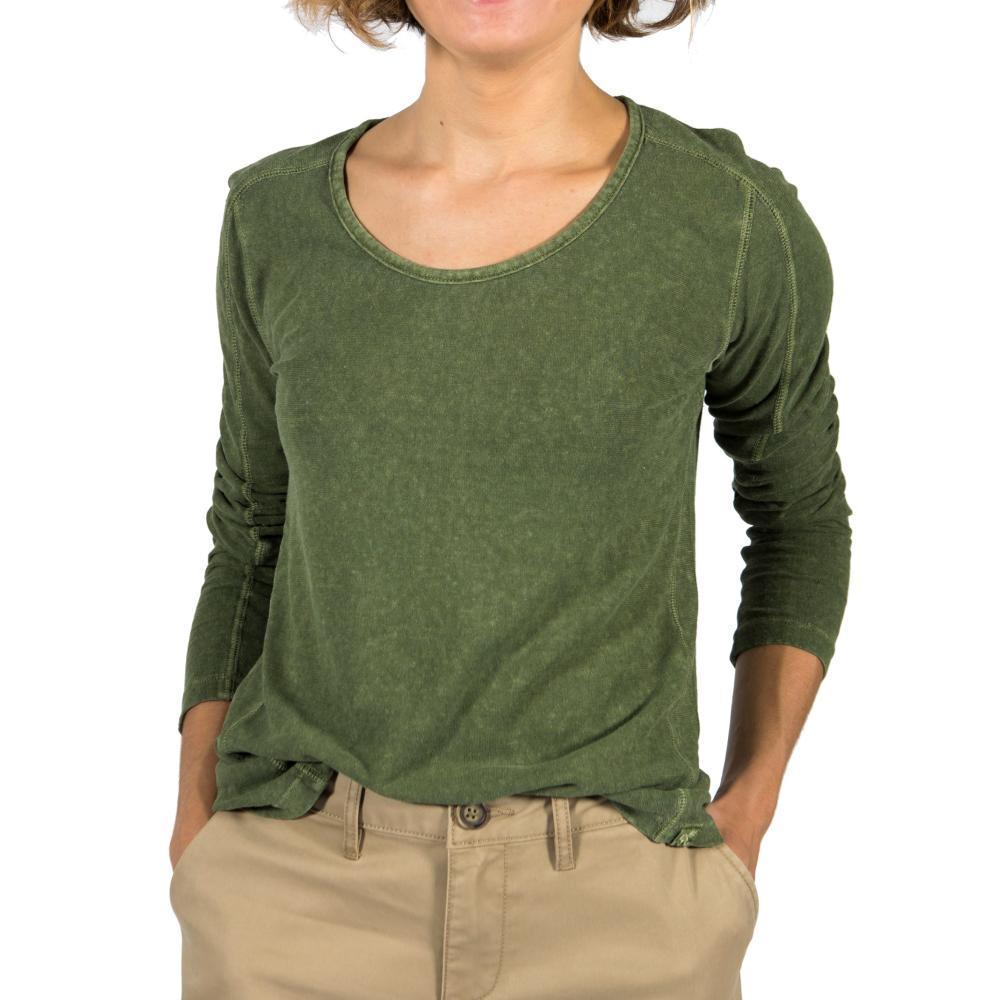 Gramicci Women's Begonia Long Sleeve Shirt LODENGREEN