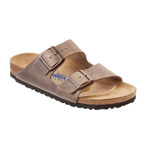 Birkenstock Men's Arizona Soft Footbed Oiled Leather Sandals Tobacco