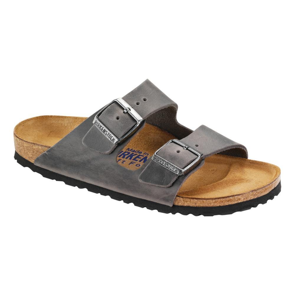 Birkenstock Men's Arizona Soft Footbed Oiled Leather Sandals IRON