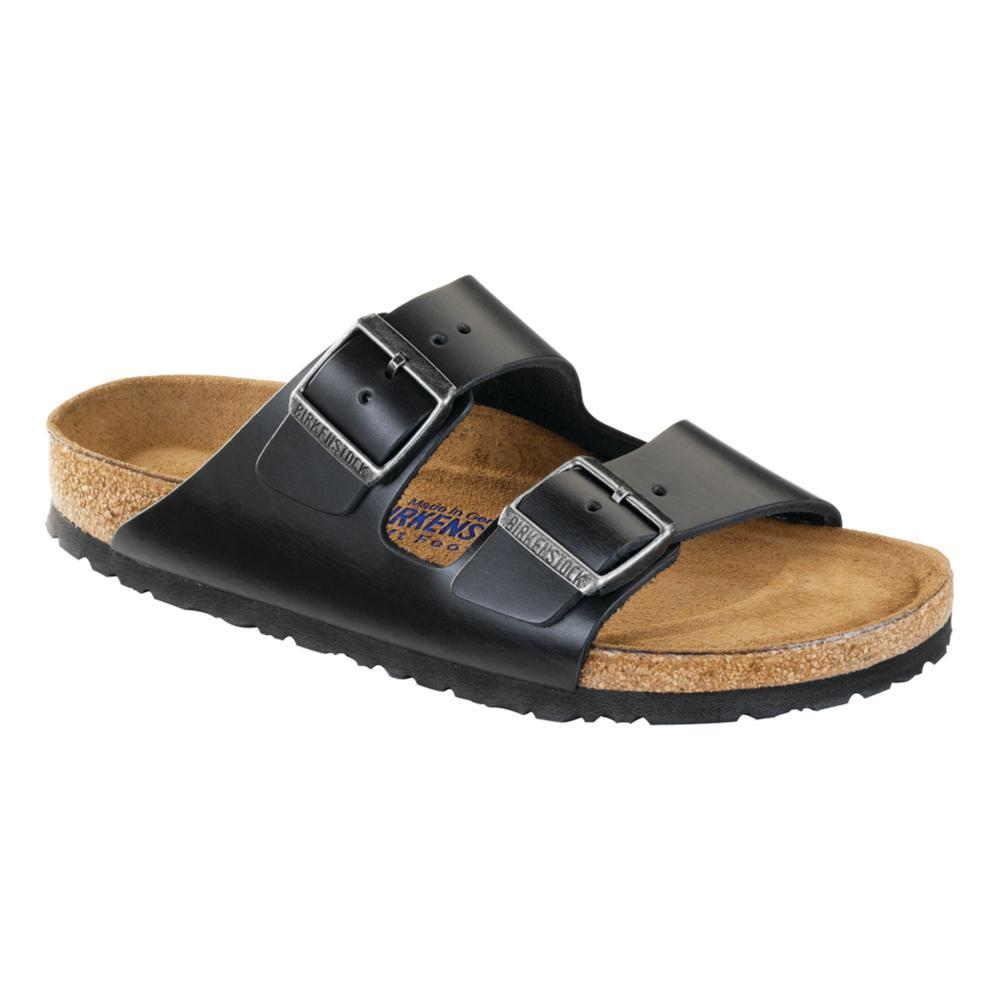 Birkenstock Men's Arizona Soft Footbed Oiled Leather Sandals - Regular BLACK