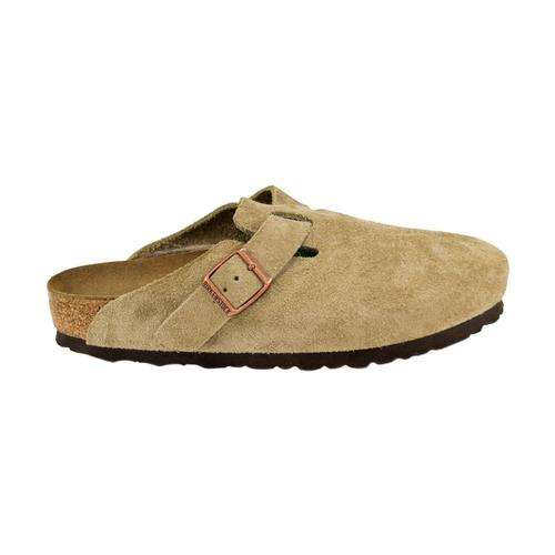 Birkenstock Women's Boston Soft Footbed Suede Leather Clogs - Regular Taupesd