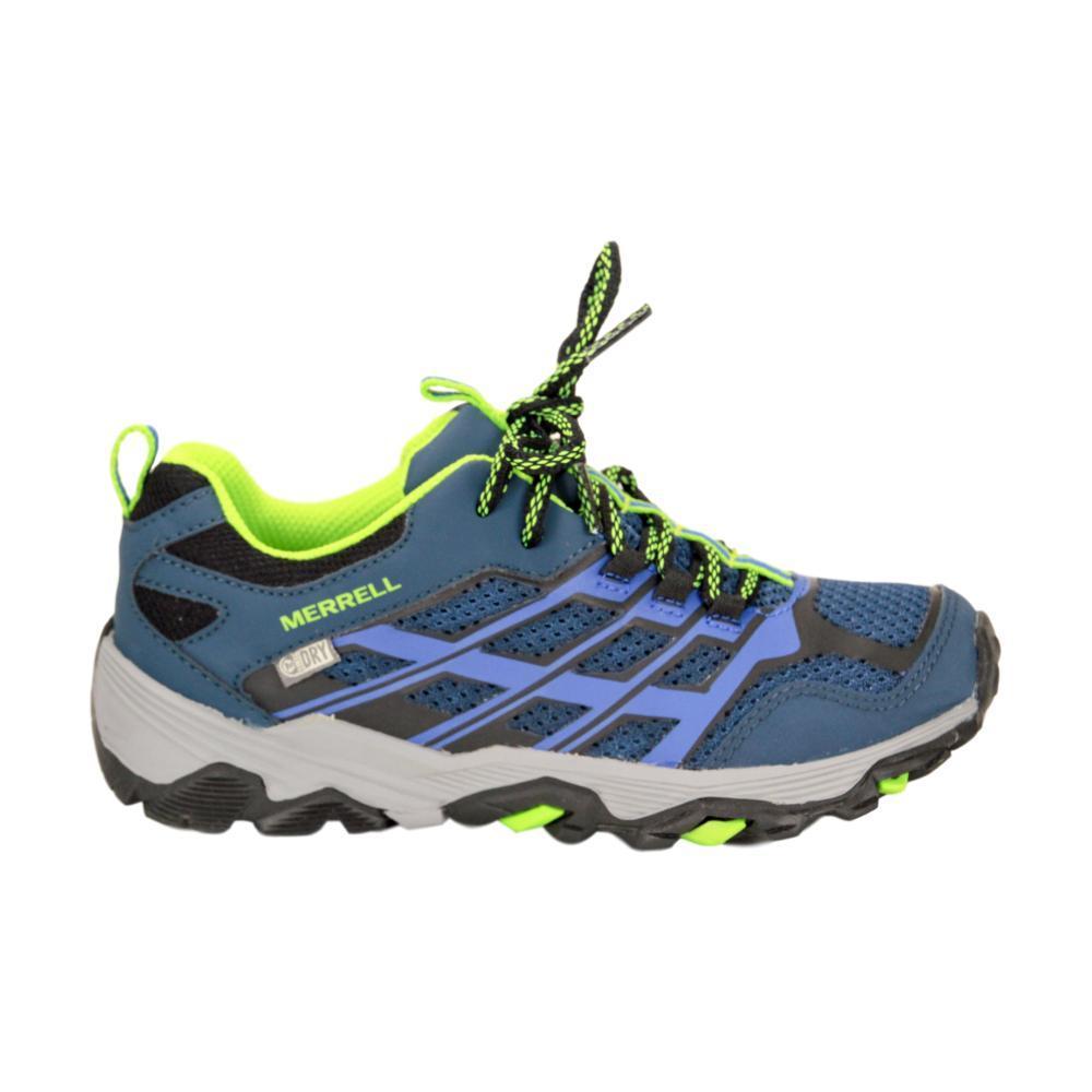 Merrell Big Kids Moab Low Waterproof Shoes NVY_BLU