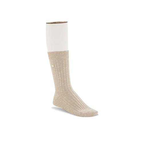 Birkenstock Women's Cotton Slub Socks Beige/White