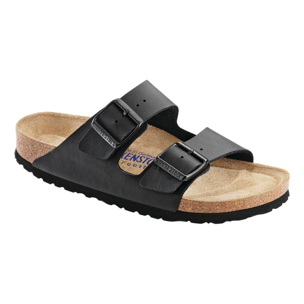 Birkenstock Women's Arizona Soft Footbed Birko-Flor Sandals - Narrow BLACK
