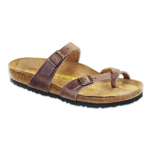 Birkenstock Women's Mayari Oiled Leather Sandals Tobacco