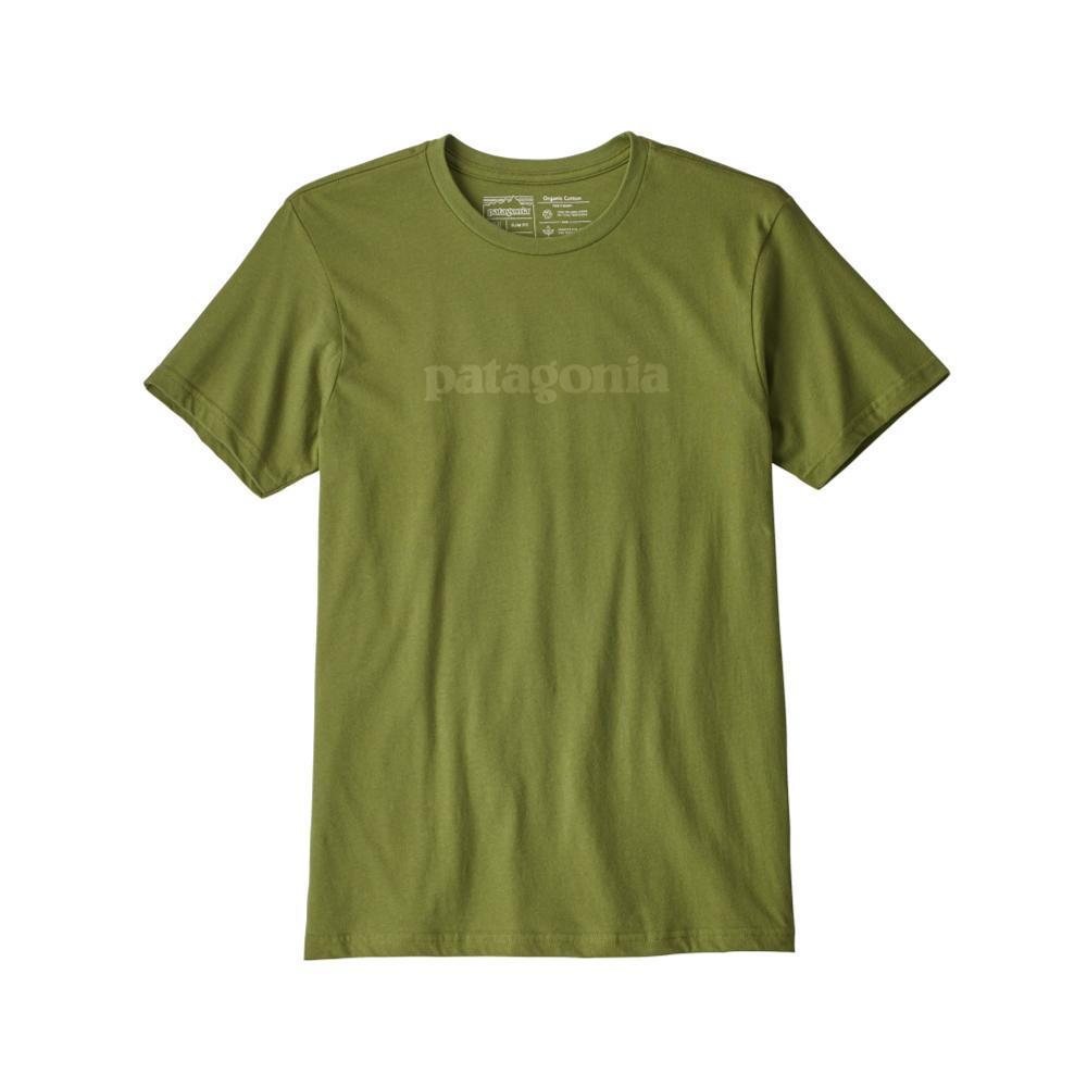 Patagonia Men's Text Logo Organic T-Shirt SPRGREEN_SPTG