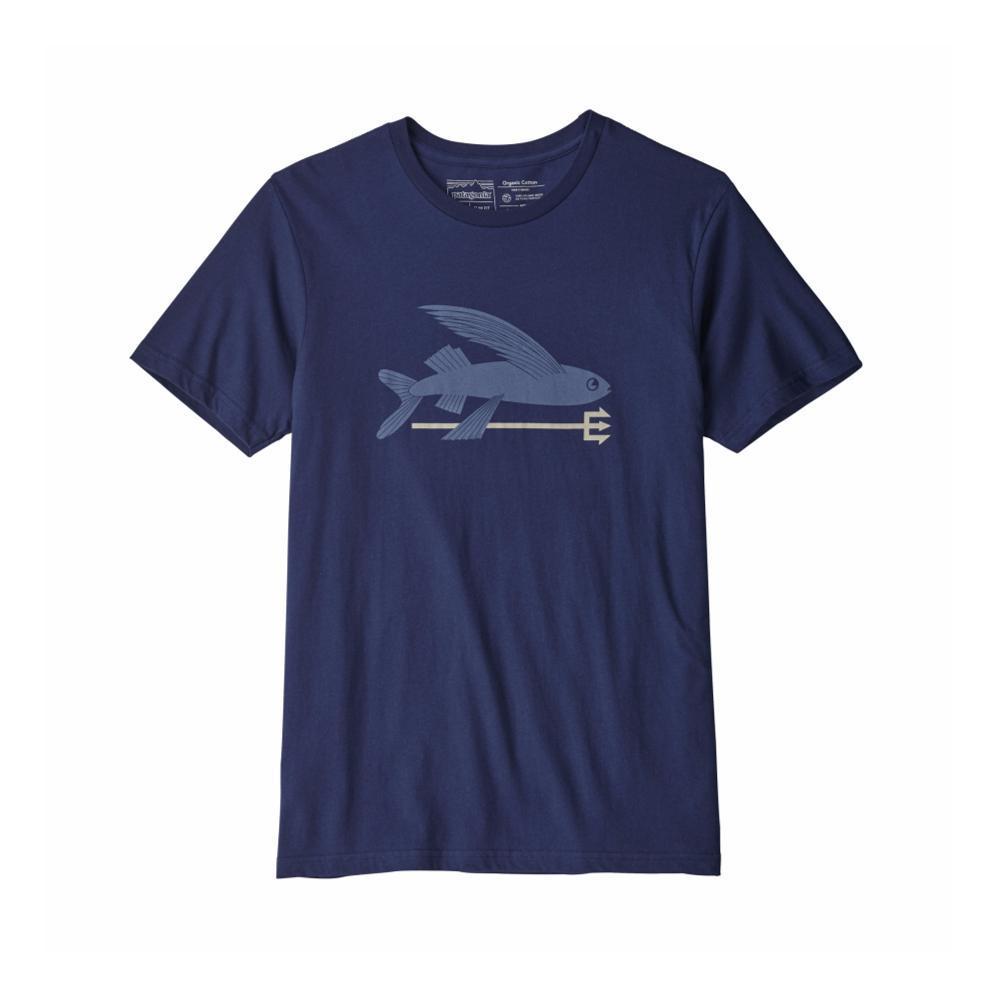 Patagonia Men's Flying Fish Organic T-Shirt NAVY_CNY