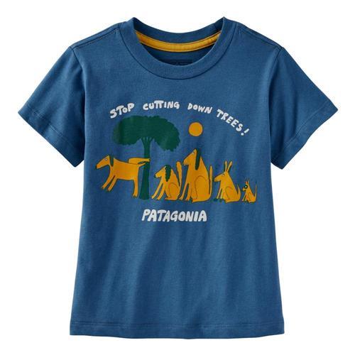 Patagonia Infant Baby Graphic Organic T-Shirt Pgnblu_ptpb
