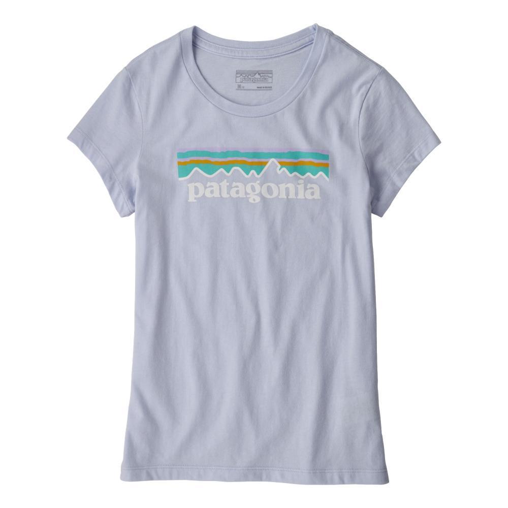 Patagonia Girls Pastel P-6 Logo Organic T-Shirt  BELUGA_BEU