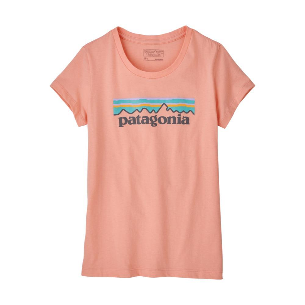 Patagonia Girls Pastel P-6 Logo Organic T-Shirt  PINK_FLMP