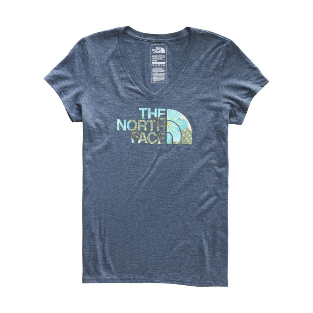 The North Face Women's Short-Sleeve Half Dome V-Neck Tri-Blend Tee BLUPRT_CU5