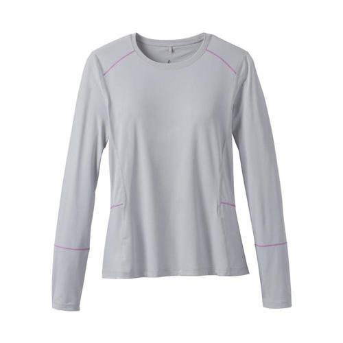 prAna Women's Long Sleeve Eileen Sun Top Silver